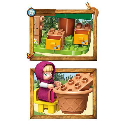 Qman Keeppley  瑪莎與熊 洗衣日情境積木套裝
