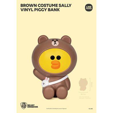 Line Friends Series Brown Costume Sally Vinyl Piggy Bank