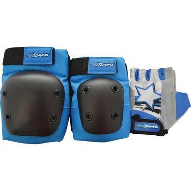 Kidzamo藍色護具手套套裝 中碼