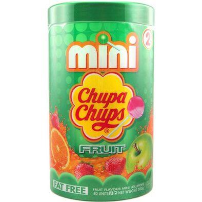 Kellogg's Chupa Chups珍寶珠迷你棒棒糖筒裝雜果味 50支