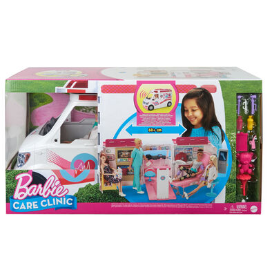 Barbie Care Clinic Dolls And Vehicle Playset