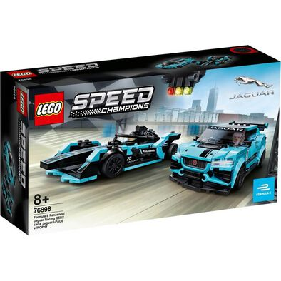LEGO樂高超級賽車系列 LEGO Speed Champions Formula E Panasonic Jaguar Racing Gen2 Car & Jaguar I-Pace Etrophy 76898