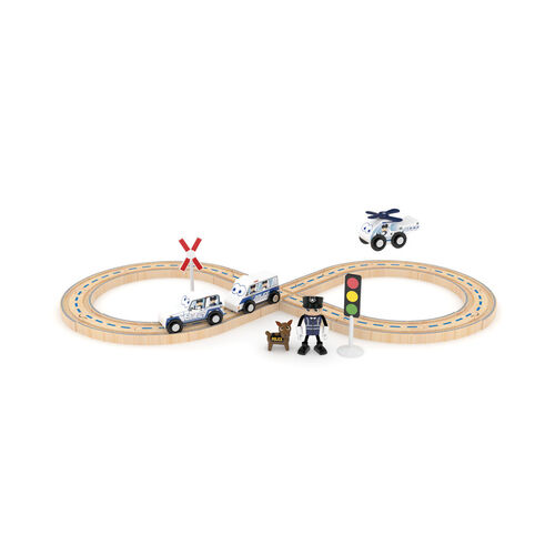 J'adore Police Railway Set
