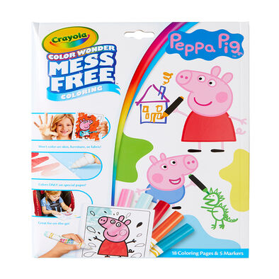 Crayola Color Wonder Mess Free Coloring Peppa Pig Foldalope Coloring Book