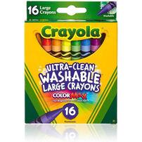 Crayola繪兒樂可水洗大支蠟筆16支裝
