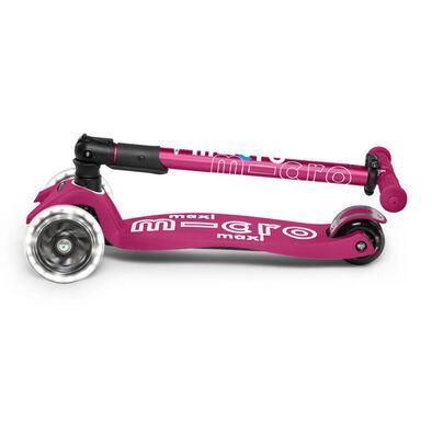 Micro Mobility 【升級閃轆版】 中童 易摺滑板車 漿果紅色