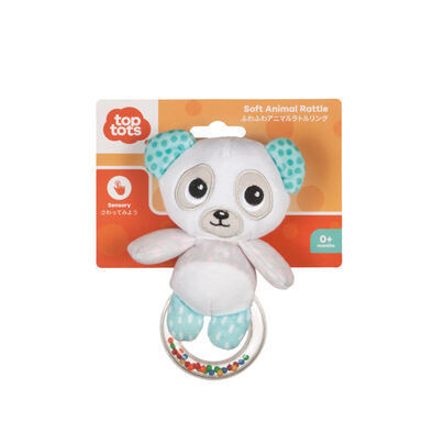 Top Tots Soft Animal Rattle- Assorted