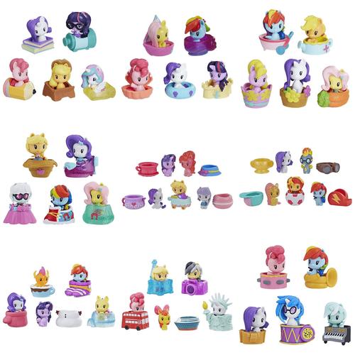 My Little Pony小馬寶莉可愛標記q版系列驚喜包5隻裝 - 隨機發貨