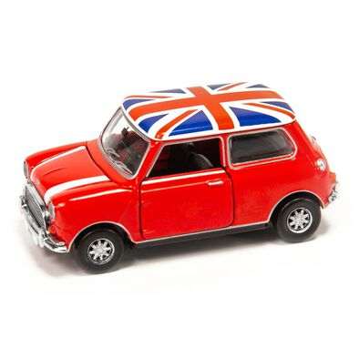 Tiny Mini Cooper Red With Union Jack Roof
