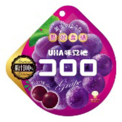 Uha 味覺糖 Cororo 黑加倫子軟糖 48G (100%果汁及水果口感)