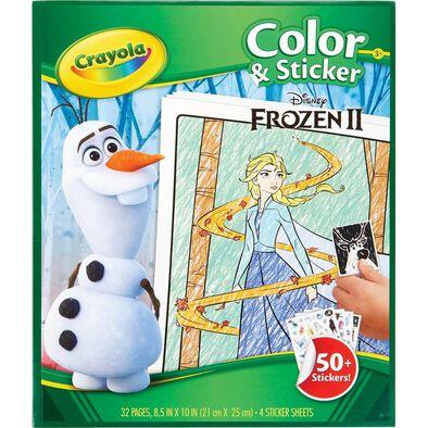 Crayola繪兒樂disney Frozen迪士尼魔雪奇緣 顏色及貼紙冊