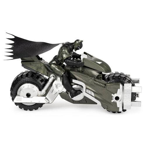 Batman蝙蝠俠-4吋蝙蝠俠可動人偶與摩托車