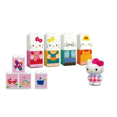 Hello Kitty吉蒂貓 積木系列 - Hello Kitty 和家人(大積木)