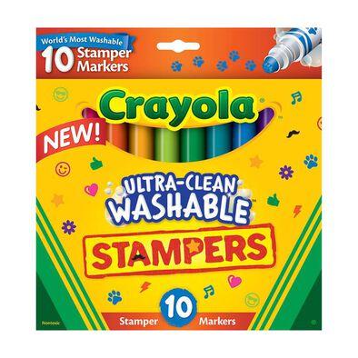 Crayola繪兒樂10色易擦可水洗蓋印水筆