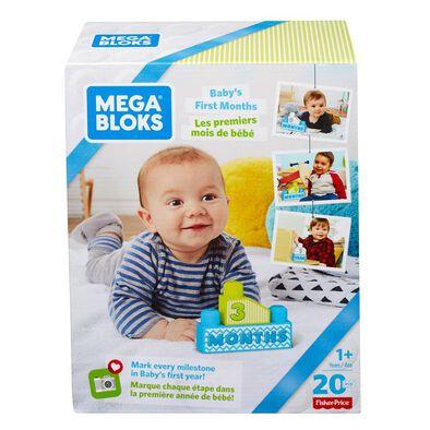 Mega Bloks美高積木first Builders系列寶寶成長紀念月份大積木套装