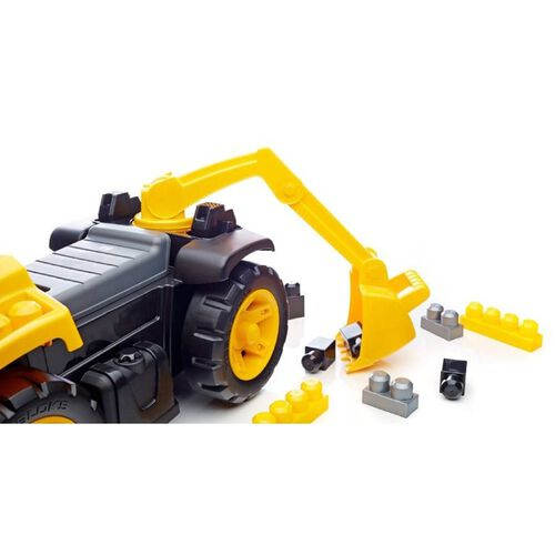 Mega Bloks Caterpillar 騎行3合1挖掘機