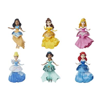 Disney Princess迪士尼公主small Doll With Royal Clips Fashion - 隨機發貨