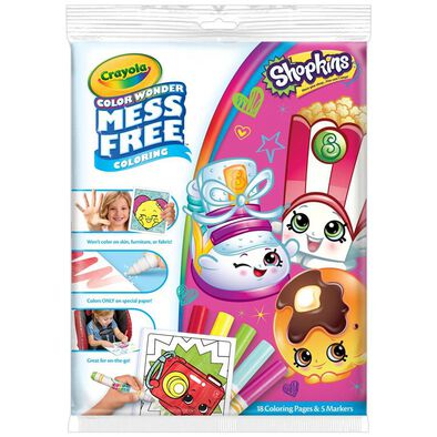 Crayola Color Wonder Shopkins Overwrap