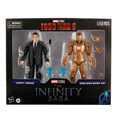 "Marvel漫威 Legends Series 6""人物模型Happy Hogan及鐵甲奇俠Mark 21 Infinity Saga"