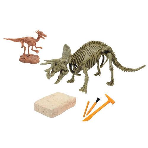 Uncle Milton米爾頓叔叔 Dr.Steve Hunters 恐龍挖掘套件 - Triceratops Skeleton
