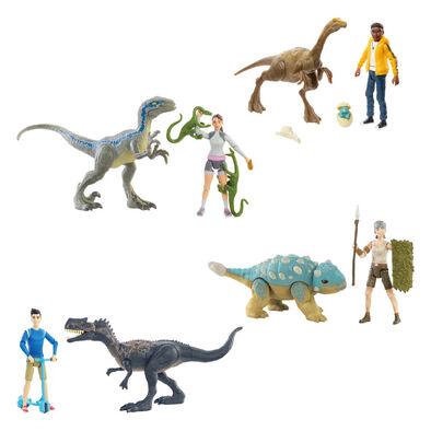 Jurassic World侏羅紀世界恐龍與人物套裝- 隨機發貨