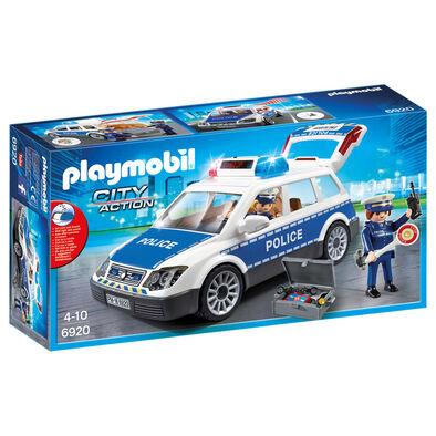 Playmobil摩比世界城市警察系列 帶聲光警車