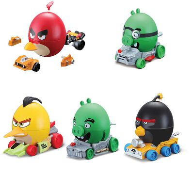 Angry Birds憤怒鳥蛋形拼裝車 - 隨機發貨