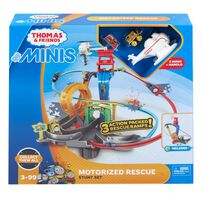 Thomas & Friends湯瑪士小火車迷你系列電動迴旋救援組