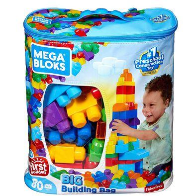 Mega Bloks美高積木first Builders系列80件大塊積木套裝