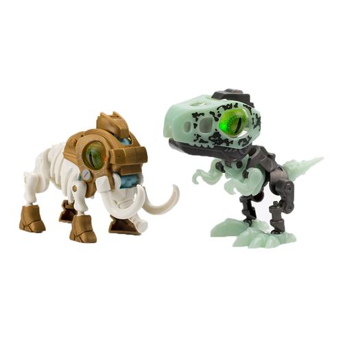 SilverLit銀輝 魔動獸球兩件套裝 (金屬色/夜光) 猛獁象及速龍