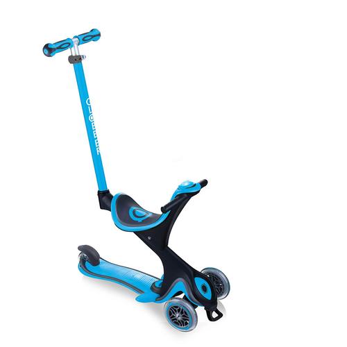 Globber高樂寶 Evo Comfort Play 多功能三輪滑板車 (天藍色)
