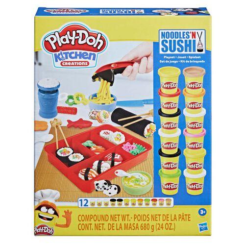 Play-Doh培樂多 廚房創作系列麵條與壽司玩具套裝