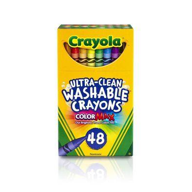Crayola繪兒樂超清潔可水洗蠟筆48支裝