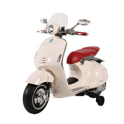 Vespa偉士 中童電動綿羊仔電單車-白色