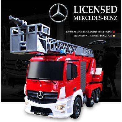 Playable Creation 1:20 可噴水多功能mercedes Benz平治消防車