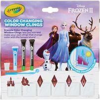 Crayola繪兒樂disney Frozen迪士尼魔雪奇緣2 變色窗戶貼