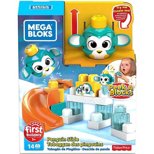 Mega Bloks美高積木first Builders系列peek A Blocks 企鵝滑梯