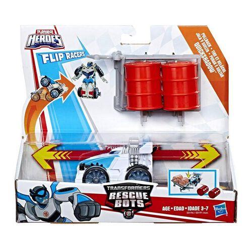 兒樂寶英雄transformers變形金剛 Rescue Bots Flipracer Pullback - 隨機發貨