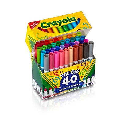 Crayola繪兒樂 40 色超強可水洗粗身水彩筆