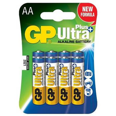 Gp Ultra Plus Alkaline Batteries Aa 8S
