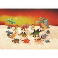 Animal Zone動物叢林 恐龍及樹, 石頭等入大四方筒裝