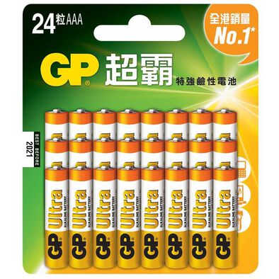 Gp超霸特強鹼性電池 3A 24粒咭裝