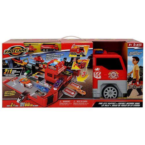 Fast Lane極速快線 消防車救援套裝連配件及兩架合金車