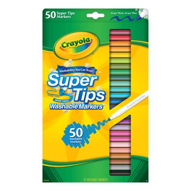 Crayola繪兒樂 50色細頭兒童可水洗水彩筆