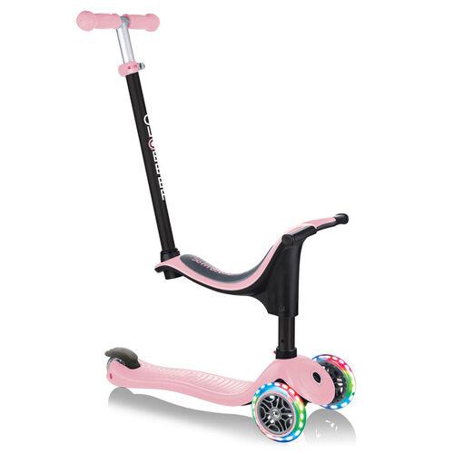 Globber高樂寶 Go•Up Sporty Lights Pastel 粉紅色滑板車