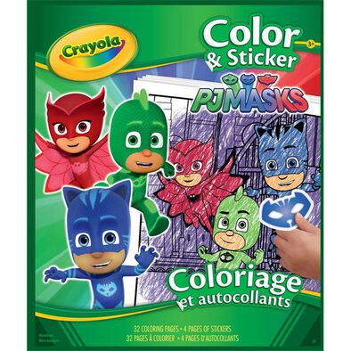 Crayola Pj Mask Color & Sticker Book