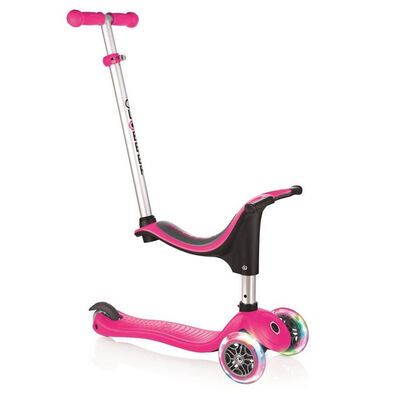 Globber高樂寶Go•Up Sporty Lights 閃輪三輪滑板車 (粉紅色)