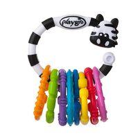 Playgro培高 斑馬搖鈴牙膠固齒器