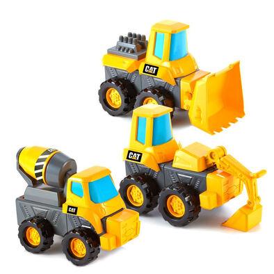 CAT卡特比勒拼砌3件裝(砂石車,推土機和壓路機)