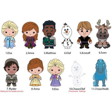 Disney Frozen迪士尼魔雪奇緣2 立體珍藏袋扣